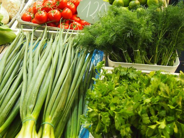 Dill leaves in the market Budapest