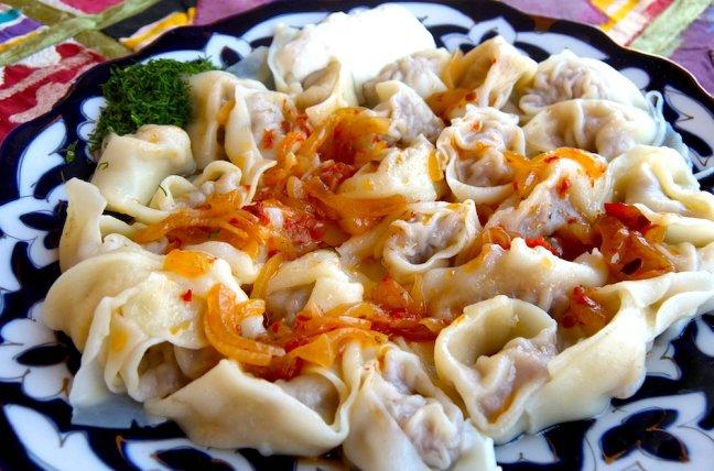 manti, uzbekistan culinary